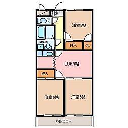 サンモールマンション[2階]の間取り
