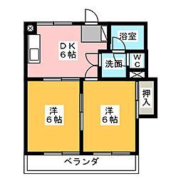 PATIO富士[3階]の間取り