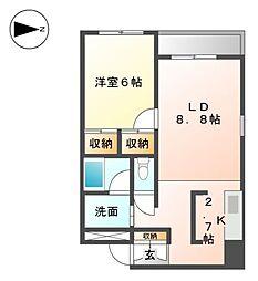 アークステージII[3階]の間取り
