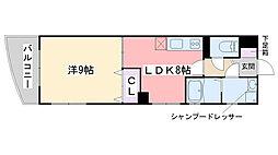 姪浜清水ビル[301号室]の間取り