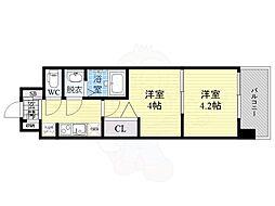 ビガーポリス346京橋2 10階2Kの間取り