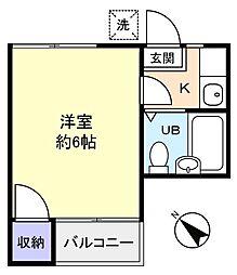 ドミトリーM[2階]の間取り