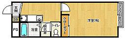 京都府京都市山科区安朱東海道町の賃貸アパートの間取り