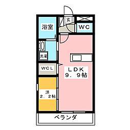 レイク志都呂[2階]の間取り