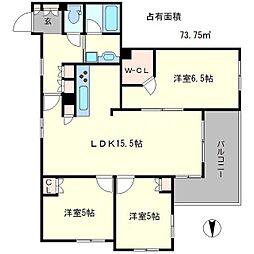 プレージア京都聖護院ノ邸[2階]の間取り
