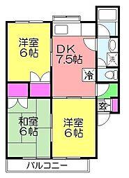 サンステージ斉藤2[105号室]の間取り