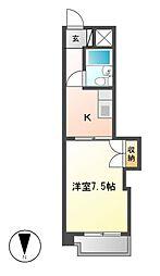 コーポ伊勢山[6階]の間取り