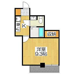S-CREA出町柳(旧 グランハイツタカヤマ)[4階]の間取り