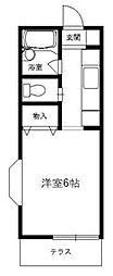 東京都町田市玉川学園7丁目の賃貸アパートの間取り