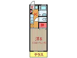 千葉県船橋市習志野台6丁目の賃貸アパートの間取り