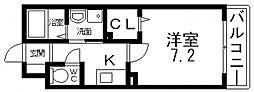 ネオグランツ高井田[206号室号室]の間取り