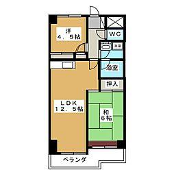 セントラルグリーンマンション[2階]の間取り