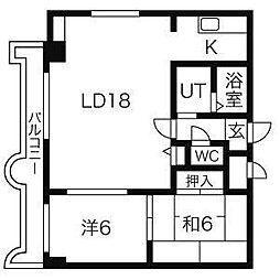 エンドレス三井南3西7[11階]の間取り