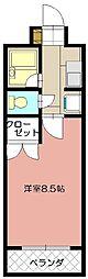 ヴィヴァーチェ浅川[203号室]の間取り