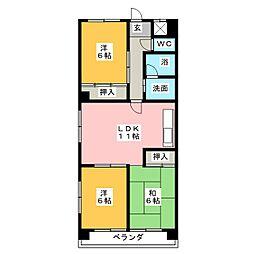 アートライフタケセイ[10階]の間取り