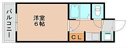 キャッスルマンション箱崎B[2階]の間取り