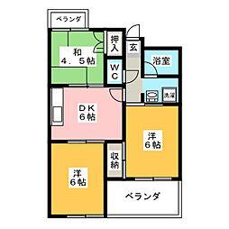 エステイタスGH7[2階]の間取り