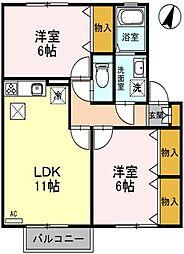 SKT 壱番館[1階]の間取り