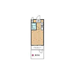 モナークマンション桜上水[0107号室]の間取り