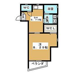 アーバンライフ桜山[3階]の間取り
