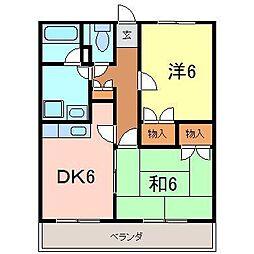 ロイヤルマンション[105号室]の間取り