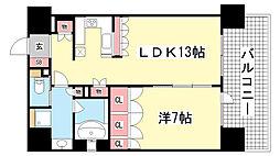リーガル神戸三宮[1201号室]の間取り
