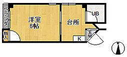 ロイヤルハイツ武庫之荘[3階]の間取り