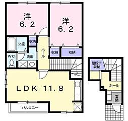 リバ−サイド 広徳[2階]の間取り