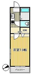 クレスト台原[1階]の間取り
