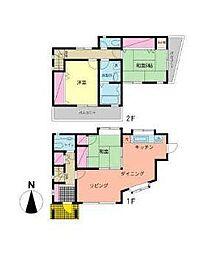 [一戸建] 神奈川県横浜市港南区下永谷3丁目 の賃貸【/】の間取り