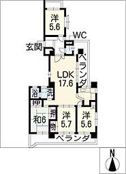 三旺マンション第8原 402号[4階]の間取り
