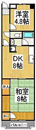 ハシバハイツ[2階]の間取り