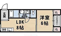 西田辺駅 4.3万円