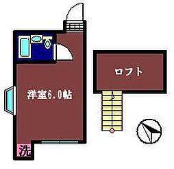 ハウス宮寺[201号室]の間取り