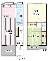 [テラスハウス] 千葉県市川市幸1丁目 の賃貸【/】の間取り