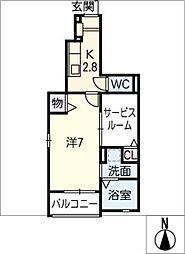 Modessa Gosaibi[1階]の間取り