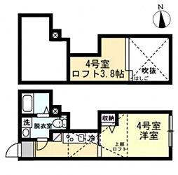 ベイルームセレスト蒲田 1階1Kの間取り