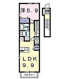 ヴィラージュY・F A[2階]の間取り