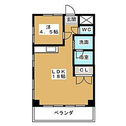 第3フクマルビル[6階]の間取り