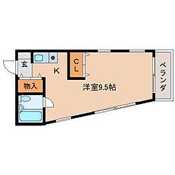 奈良県橿原市曽我町の賃貸マンションの間取り