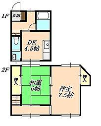 舞子台1丁目アパート[2階]の間取り