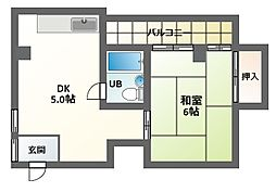 GS駒川[2階]の間取り