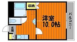 岡山県倉敷市中庄丁目なしの賃貸マンションの間取り