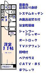 エスフォート本八幡[804号室]の間取り