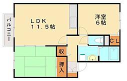 コンフォートハウス[2階]の間取り