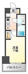 アリビオ江坂南金田[6階]の間取り