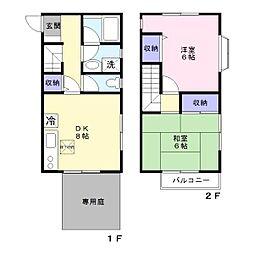 [テラスハウス] 神奈川県藤沢市湘南台3丁目 の賃貸【/】の間取り