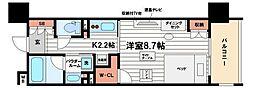 パークアクシス心斎橋[4階]の間取り