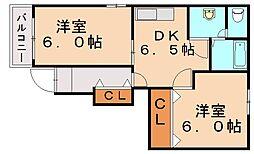 プレーヌ・飯塚[1階]の間取り