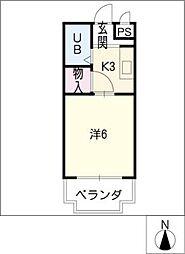 シェシェール88[2階]の間取り